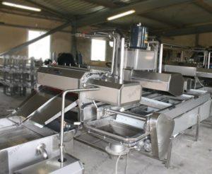 Автоматическая комбинированная линия для обработки черевы свиней/КРС/МРС