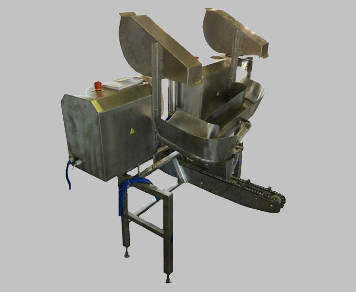 Автоматический пневмозагрузчик черевы свиней на один или два потока