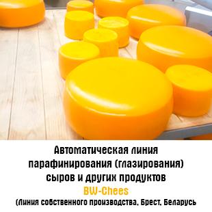 Автоматическая линия парафинирования (глазирования) сыров и других продуктов Автоматическая линия парафинирования (глазирования) сыров и других продуктов BW-Chees